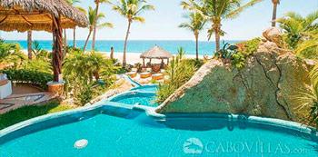 Villa Las Rocas beachfront vacation rental in Los Cabos, Mexico
