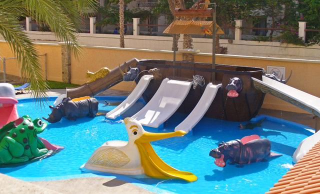Mini water park at the all-inclusive Royal Solaris Resort in San José del Cabo
