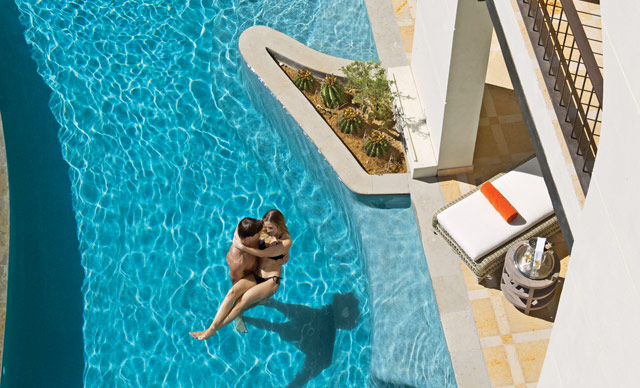 A swim-out suite at Secrets Puerto Los Cabos
