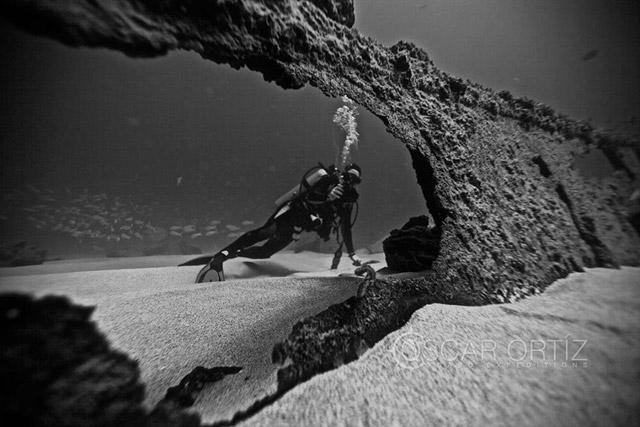 Shipwreck scuba diving in Cabo San Lucas Mexico