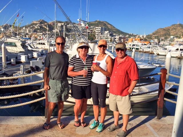 Happy visitors at the Cabo San Lucas Marina!