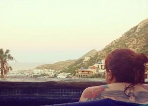 Relaxing and enjoying the view at Villa Gran Vista