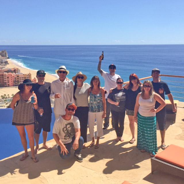 Enjoying the beautiful setting of luxury Cabo San Lucas vacation rental Villa Bellissima