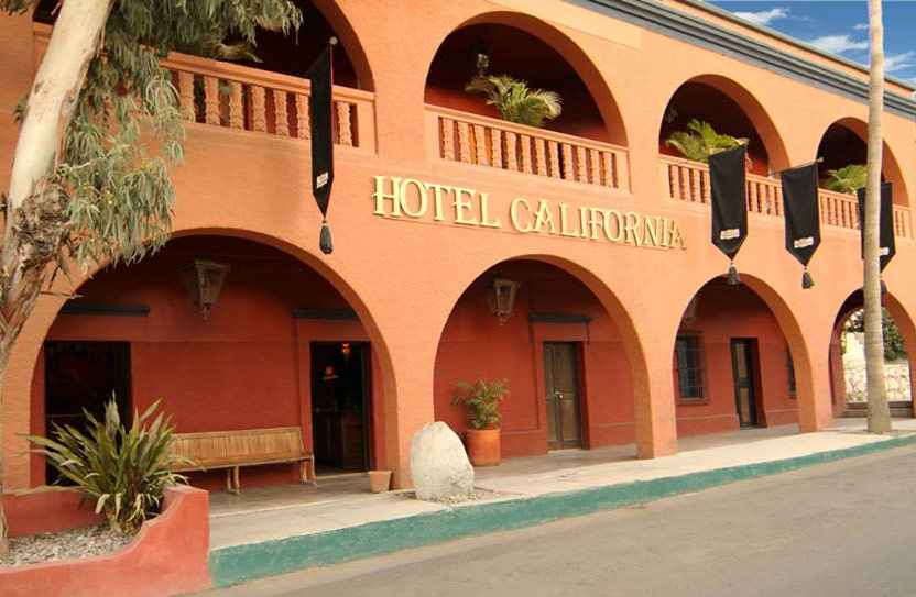 The Hotel California in Todos Santos Mexico
