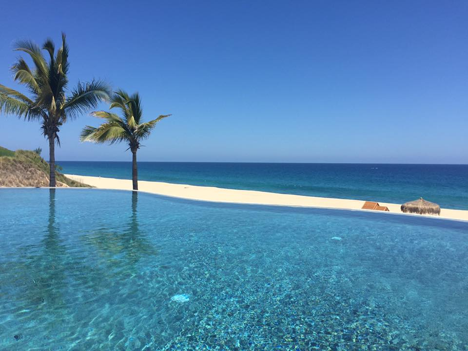 View from the private beach club in Puerto Los Cabos
