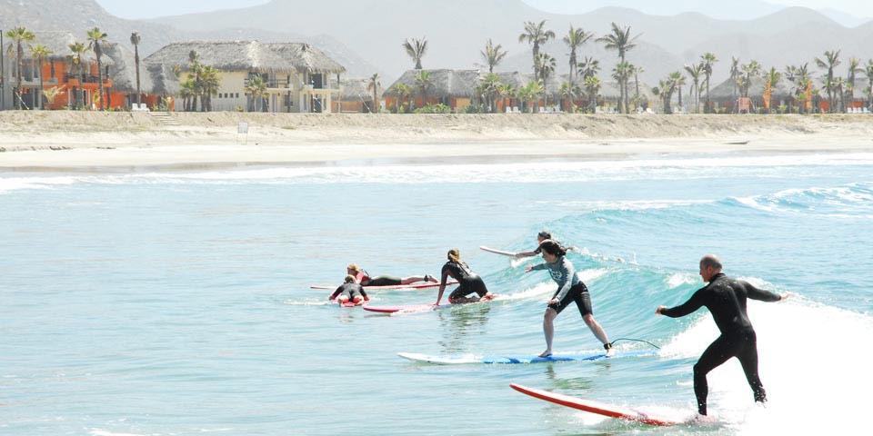 Surfing lessons in Todos Santos Mexico