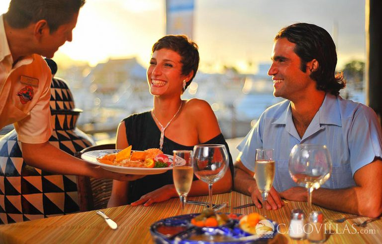 Guests at Hacienda Encantada Resort & Spa can also enjoy excellent dining options at the Marina Golden Zone in Cabo San Lucas
