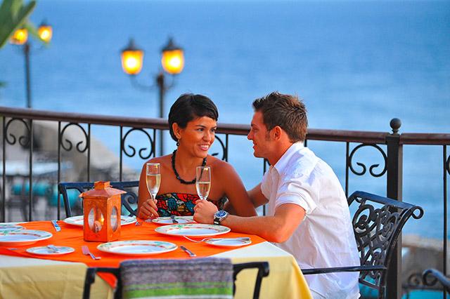 Dining at the Hacienda Encantada Resort in Los Cabos Mexico
