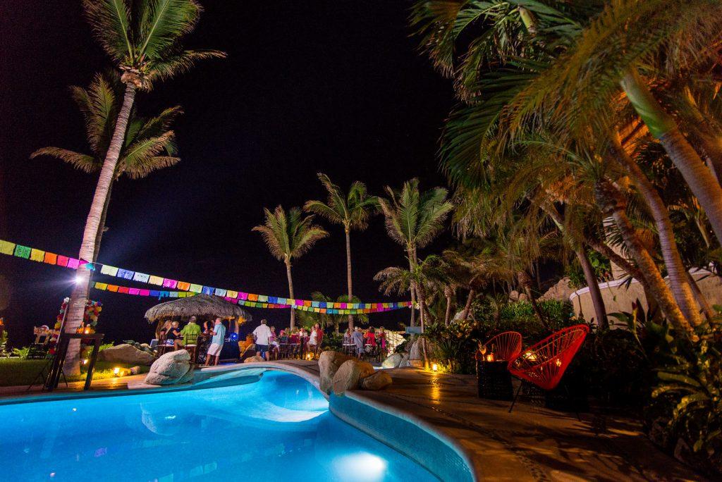 Luxury birthday party at private Los Cabos Mexico vacation rental Villa las Rocas