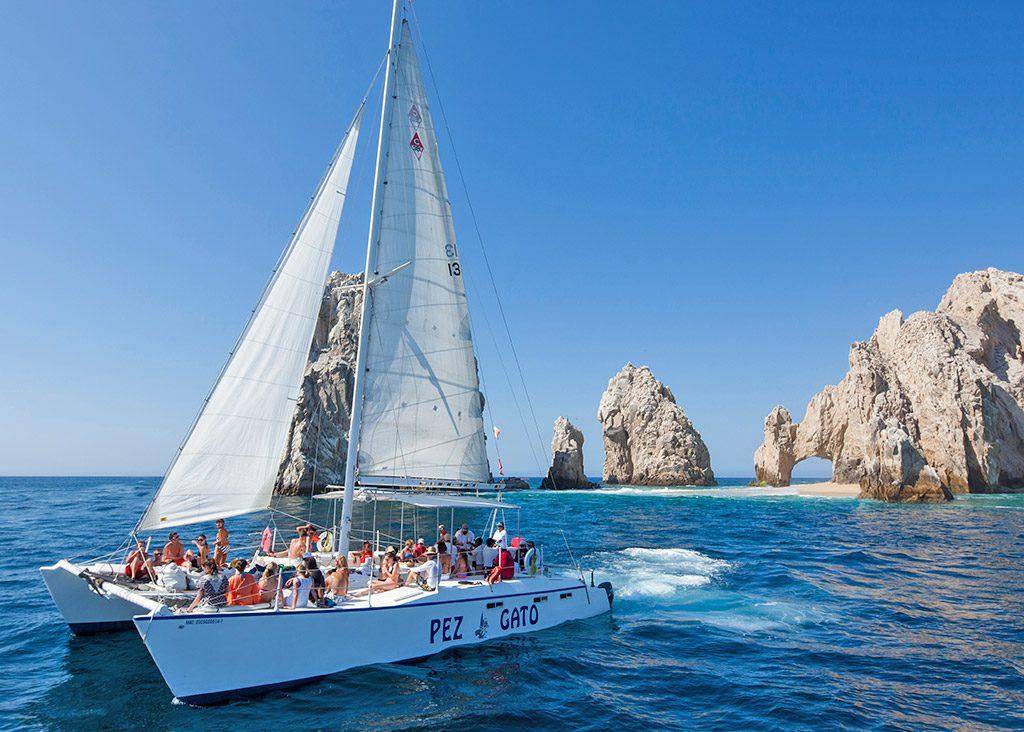 Catamaran boat tours in Cabo San Lucas Mexico